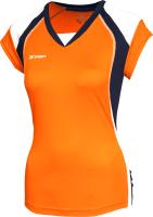 Майка волейбольная 2K Sport Energy / 140042 (L, оранжевый/темно-синий/белый) -