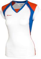 Майка волейбольная 2K Sport Energy / 140042 (XXS, белый/синий/красный) -