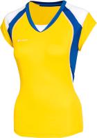 Майка волейбольная 2K Sport Energy / 140042 (XXS, желтый/синий/белый) -