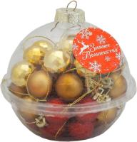 Набор шаров новогодних Зимнее волшебство Малышки в шарике / 1023304 (40шт, красный/золото) -