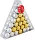 Набор шаров новогодних Зимнее волшебство Треугольник / 3259657 (56шт, золото/серебристый) -