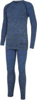 Комплект термобелья детский VikinG Fjon Bamboo / 500/22/6565-15 (р.128/140, синий) -