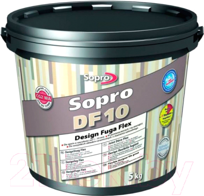 Фуга Sopro DF 10 №1055 (5кг, песочно-серый)