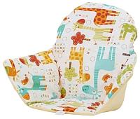 Чехол на стульчик для кормления Polini Kids Antilop жирафы (желтый) -