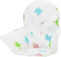 Чехол на стульчик для кормления Polini Kids Antilop монстрики (белый) -