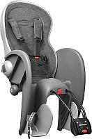 Детское велокресло Polisport Wallaby Evolution Deluxe  (темно-серый/серый) -