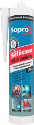 Герметик силиконовый Sopro 038 14 (310мл, бетонно-серый)