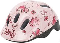 Защитный шлем Polisport Birdy 44/48 (XXS, бежевый/розовый) -