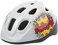 Защитный шлем Polisport Comics 52/56 / 8740400020 (S, белый/желтый) -