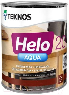 Лак Teknos Helo Aqua 20 Semimatt (900мл, полуматовый)
