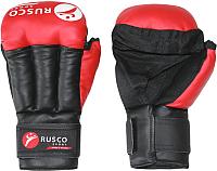 Перчатки для рукопашного боя RuscoSport Красный (р-р 6) -