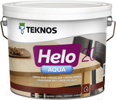 Лак Teknos Helo Aqua 20 Semimatt (9л, полуматовый)