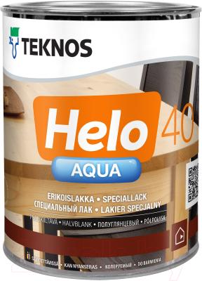Лак Teknos Helo Aqua 40 Semigloss (900мл, полуглянцевый)