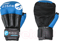 Перчатки для рукопашного боя RuscoSport Синий (р-р 8) -