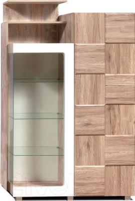 Шкаф с витриной Мебель-КМК Риксос 0644.2 (левый)
