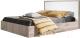 Двуспальная кровать Мебель-КМК 1600 Кристал 0650.3 (дуб юккон/белый жемчуг) -