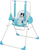 Качели для новорожденных Polini Kids Disney baby Микки Маус с вышивкой (синий) -
