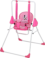 Качели для новорожденных Polini Kids Disney baby Минни Маус с вышивкой (розовый) -