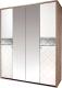 Шкаф Мебель-КМК Кристал 4Д 0650.8 (дуб юккон/белый жемчуг) -
