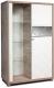 Шкаф с витриной Мебель-КМК Кристал 0650.4 правый (дуб юккон/белый жемчуг) -