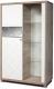 Шкаф с витриной Мебель-КМК Кристал 0650.5 левый (дуб юккон/белый жемчуг) -