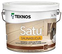 Лак Teknos Saunasuoja (2.7л, глянцевый) -