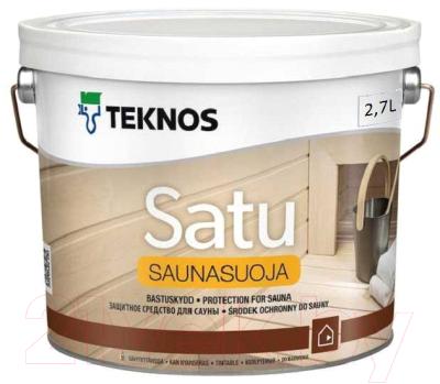 Лак Teknos Saunasuoja (2.7л, глянцевый)
