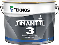 Краска Teknos Timantti 3 Valkoinen (900мл, белый) -