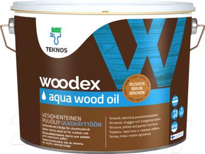 Масло для древесины Teknos Woodex Wood Oil Aqua (2.7л, бесцветный)