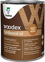 Масло для древесины Teknos Woodex Hard Wood Oil (1л, коричневый) -