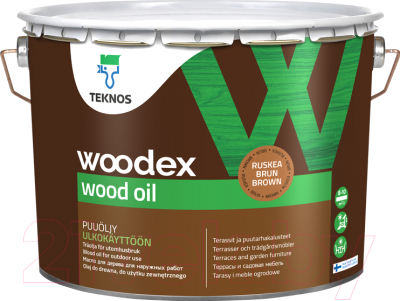 Масло для древесины Teknos Woodex Wood Oil (2.7л, коричневый)