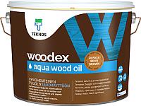 Масло для древесины Teknos Woodex Wood Oil Aqua (9л, бесцветный) -