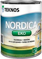 Краска Teknos Nordica Eko House Paint Base 1 (0.9л) -