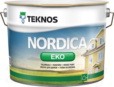 Краска Teknos Nordica Eko House Paint Base 3 (900мл)