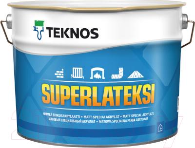 Краска Teknos Superlateksi Base 1 (2.7л, белый)