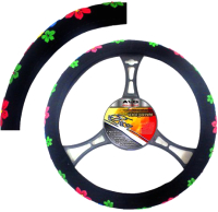 Оплетка на руль AVG 841 / 205134 (черный/цветочки) -