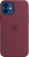 Чехол-накладка Apple Silicone Case with MagSafe для iPhone 12/12 Pro / MHL23 (сливовый) -