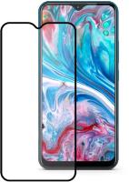 Защитное стекло для телефона Case Full Glue для Vivo Y11/Y12 (черный глянец) -