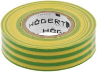 Изолента Hoegert PVC HT1P286 (желтый/зеленый) -