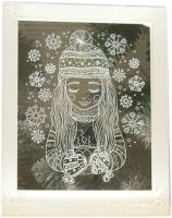 Светодиодная картина Luazon Девочка 3678252 (белый) -