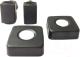 Фитинги для полотенцесушителя ZorG ZR ST (черный матовый) -