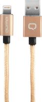 Кабель Qumo MFI С48 USB-Apple 8 pin (1.5м, золото) -