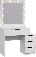 Туалетный столик с зеркалом Мир Мебели SV-45 с подсветкой -