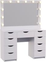 Туалетный столик с зеркалом Мир Мебели SV-65 с подсветкой -