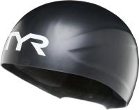 Шапочка для плавания TYR Wall-Breaker Racing / LCSWBRKR/001 (XS/S, черный) -