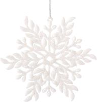 Набор ёлочных игрушек Зимнее волшебство Белая снежинка / 2371297 (3шт) -
