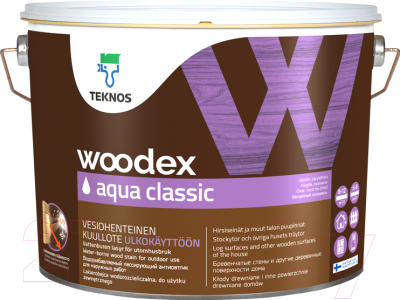 Антисептик для древесины Teknos Woodex Aqua Classic B3 (900мл)