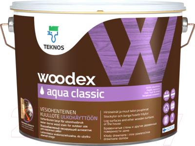 Антисептик для древесины Teknos Woodex Aqua Classic B3 (9л)