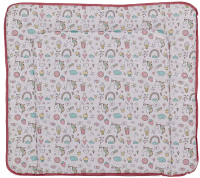 Пеленальный матрас Polini Kids Единорог Сладости 77x72 (розовый) -