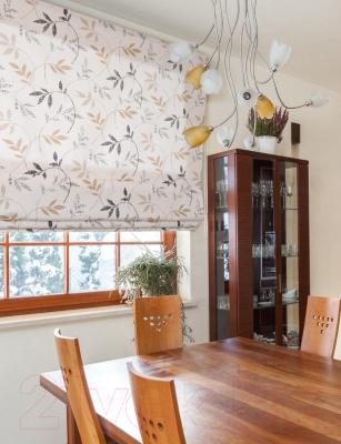 Римская штора Delfa Мини Flora СШД-01М-166/036 (43x160, бежевый/коричневый)